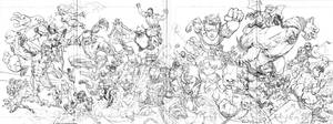 Invincible 60 cover pencils