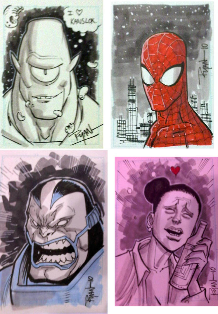 C2E2 sketch cards by RyanOttley