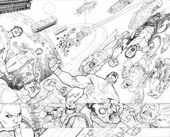 Invincible 75 cover PENCILS by RyanOttley