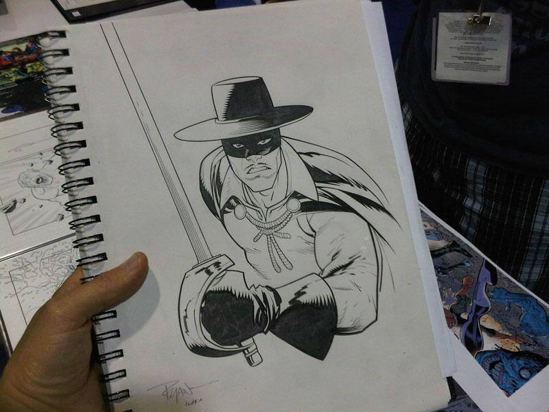 COMICON sketch Zorro b...