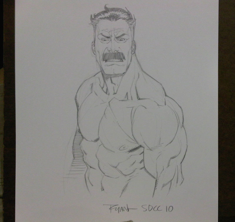 COMICON sketch Omniman by RyanOttley