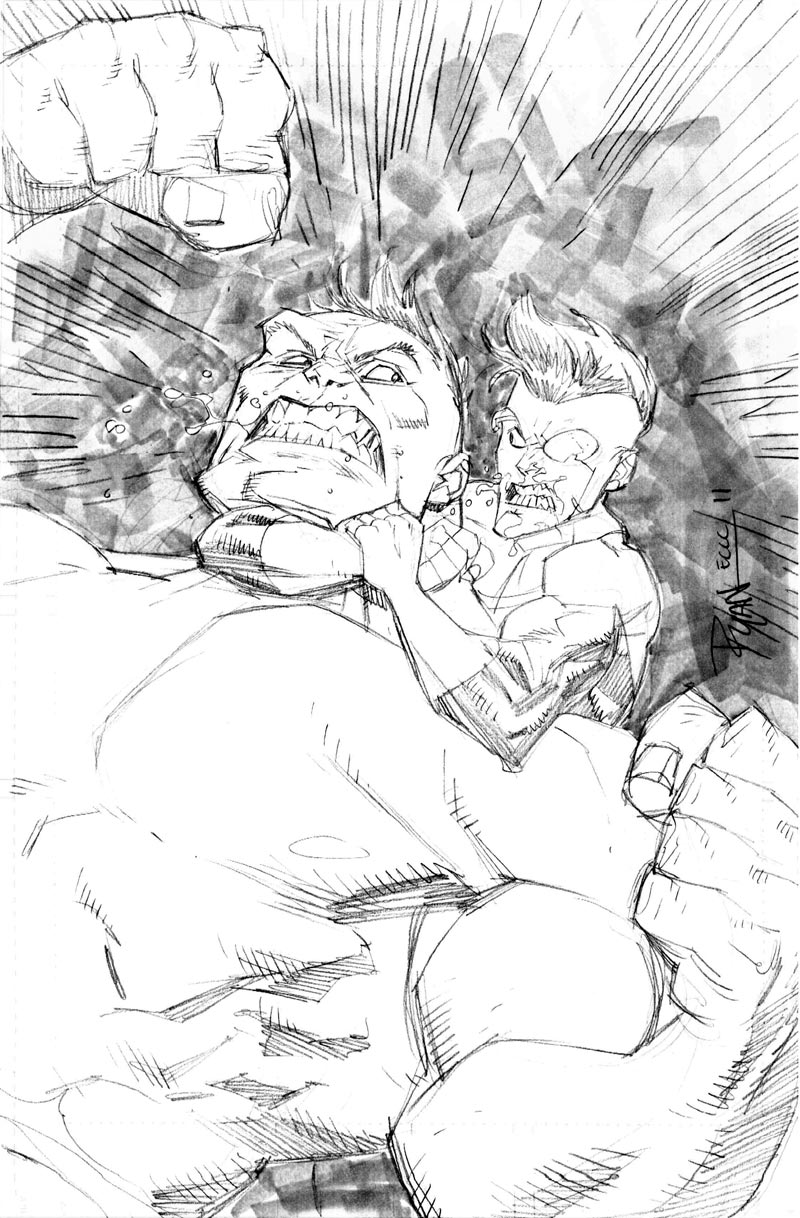 Seattle con INV vs HULK sketch by RyanOttley