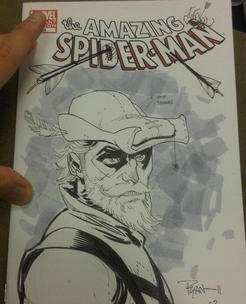 Green Arrow sketch by RyanOttley