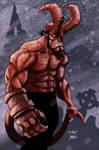Hellboy, colored