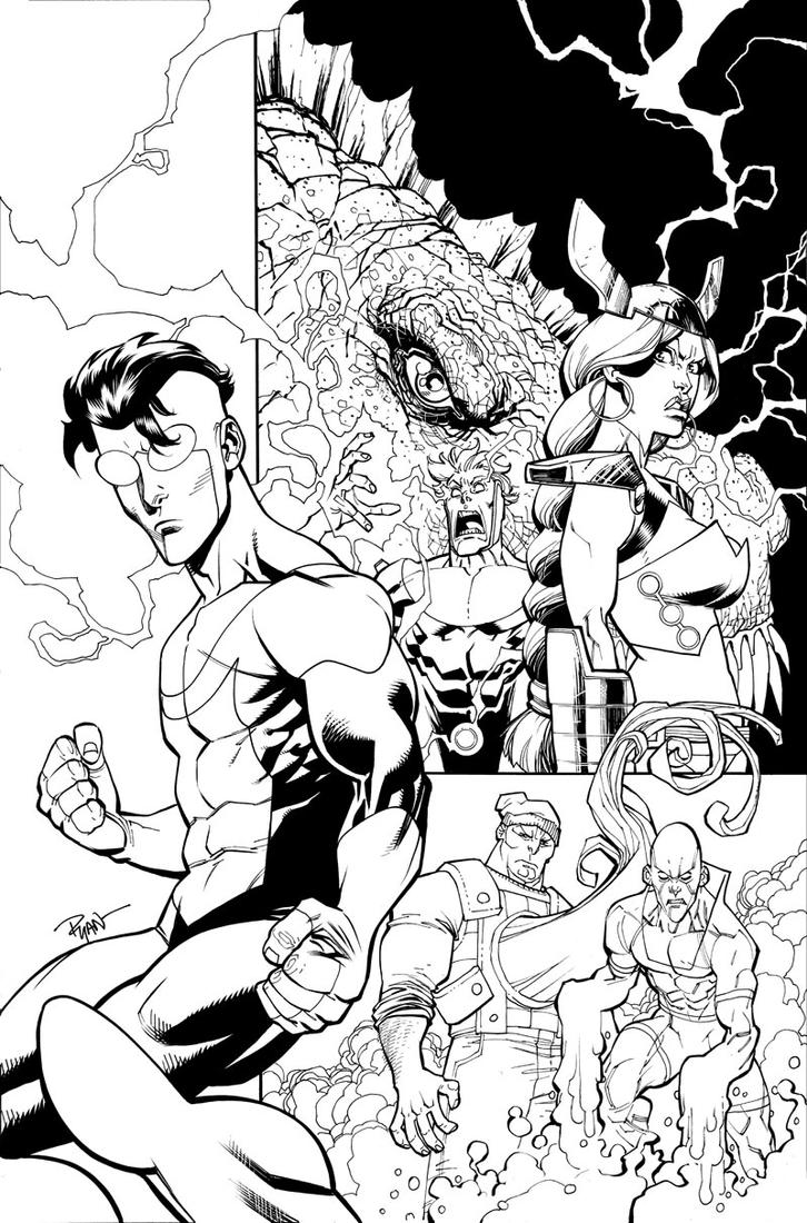 INVINCIBLE volume 15 TPB cover by RyanOttley