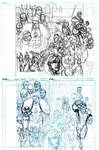 INVINCIBLE 7th HC cover layout and pencils