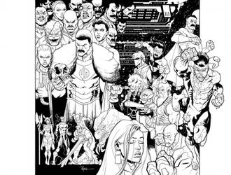 INVINCIBLE 7th hardcover finished inks by RyanOttley
