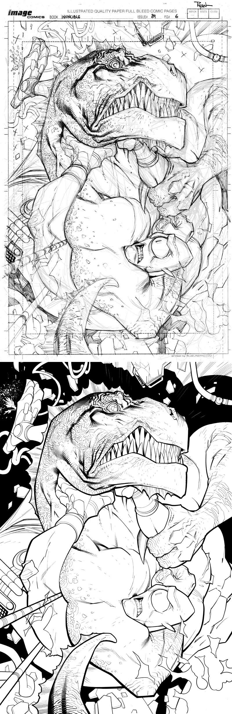 INVINCIBLE89 page 6 Allen vs Dino by RyanOttley