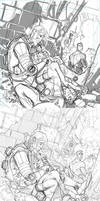 Invincible 96 cover process 3 stages