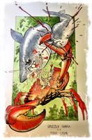 Shark vs Crab by RyanOttley