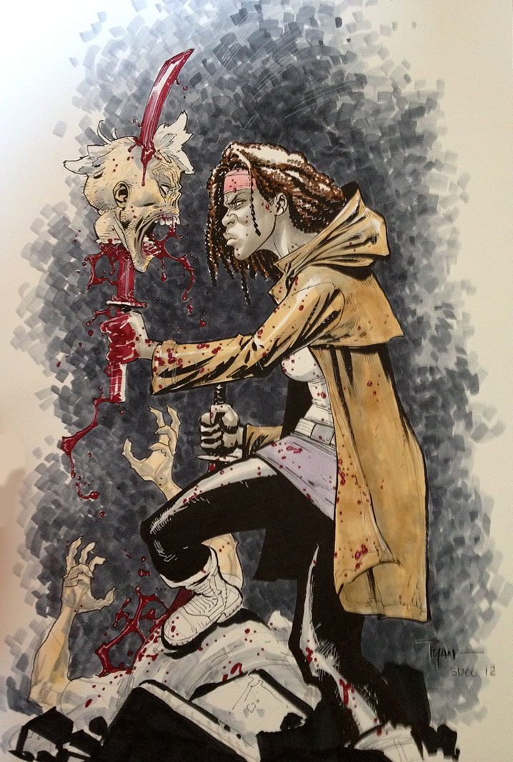 Michonne from Walking Dead by RyanOttley