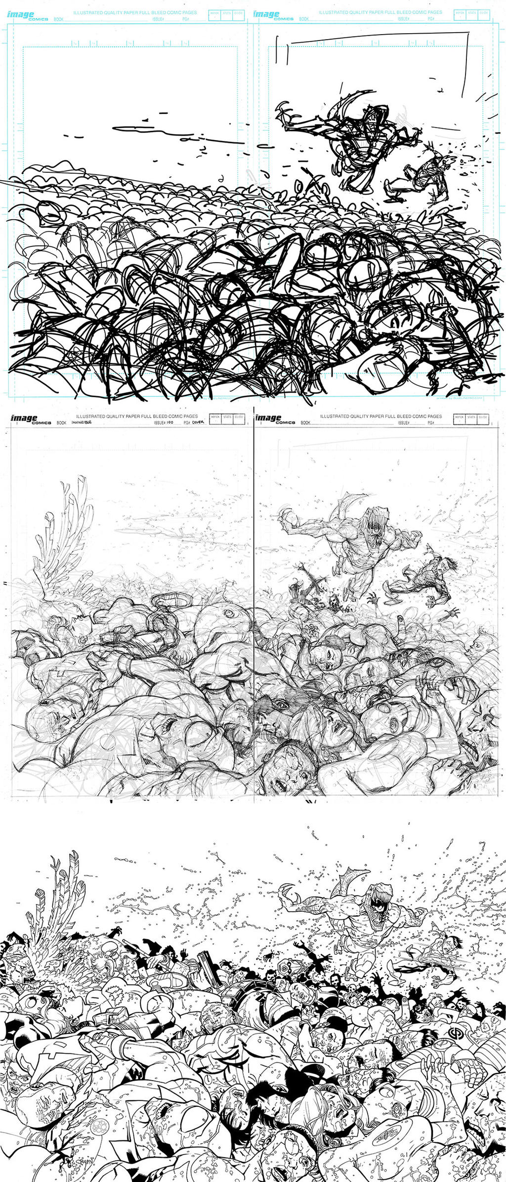 Process for INVINCIBLE 100 large cover by RyanOttley