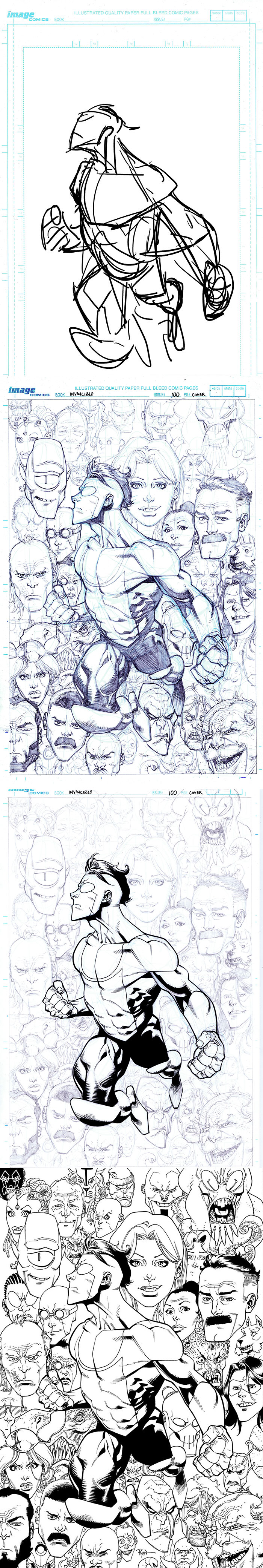 Process for my other INVINCIBL100 cover by RyanOttley