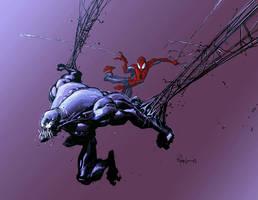 Venom and Spiderman by RyanOttley