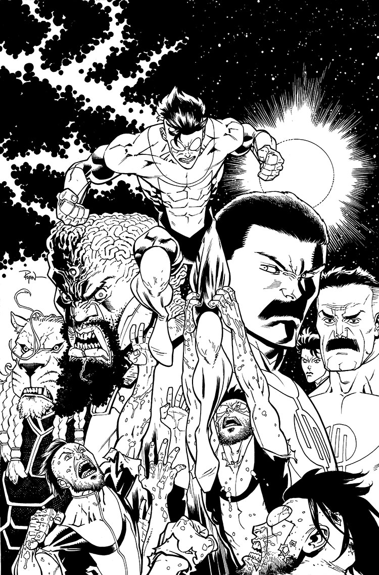Invincible TPB cover 19 by RyanOttley