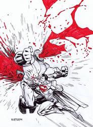 SUPERMAN VS DARKSEID by RyanOttley