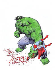 HULK VS SUPERMAN by RyanOttley