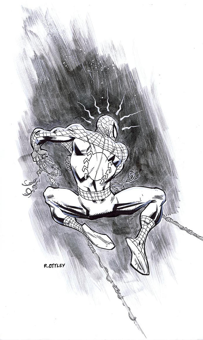 Spider-man's back by RyanOttley