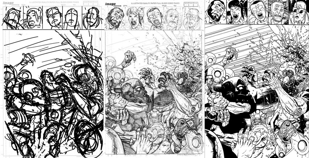 INVINCIBLE 112 cover process by RyanOttley