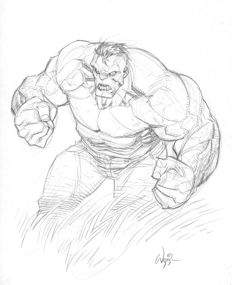 Hulk Sketch Hul... The Incredible Hulk Sketch