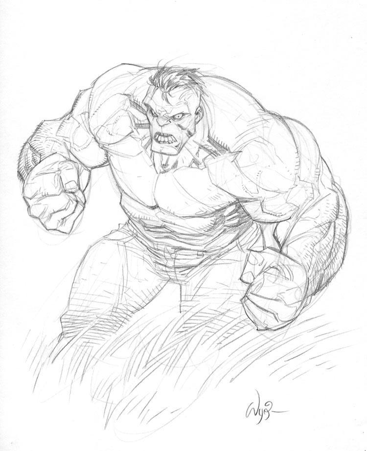 Hulk Sketch Hul... The Incredible Hulk Sketch