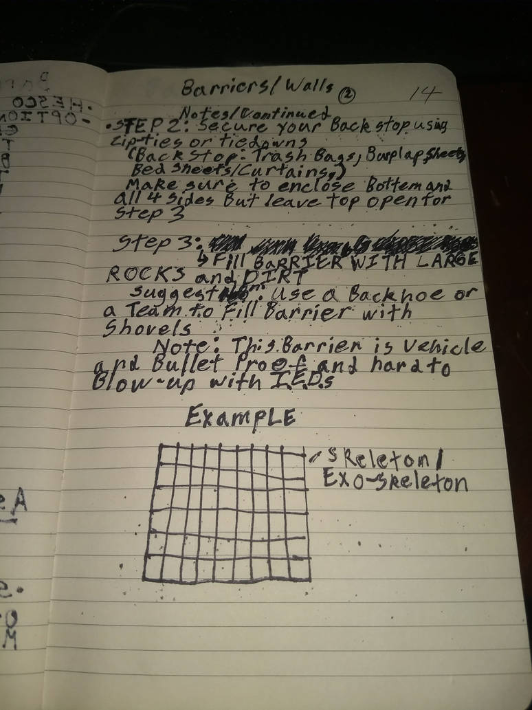 Barriers/Walls_Survivor_Notebook_HESCO_HOWTO_PG2 by Commander-Fillmore