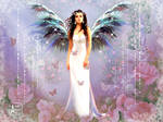 Angel in the rose garden