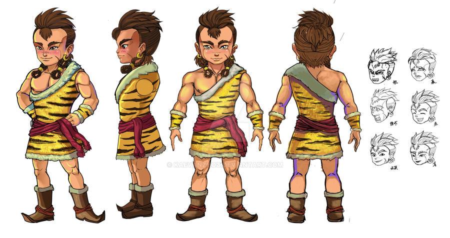 Boy for Animation's design by kaevanzhou