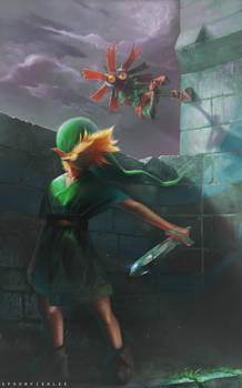Link and Skullkid
