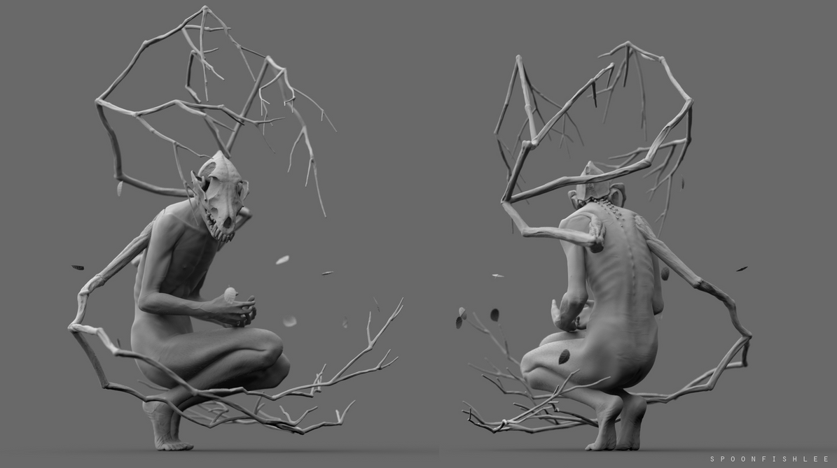 Call us home 3D sculpt by SpoonfishLee