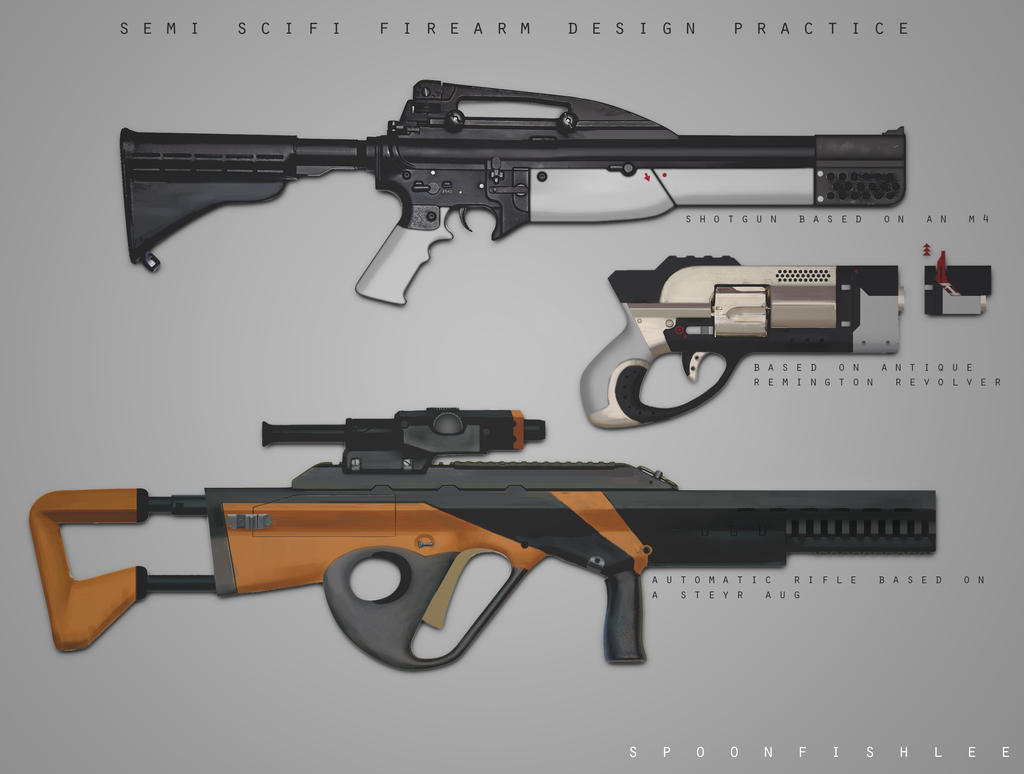 Weapons design practice by SpoonfishLee
