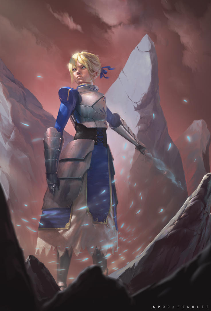 Fate/Stay Night, Saber by SpoonfishLee