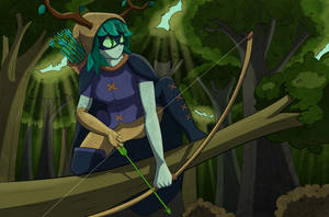 Huntress Wizard - Collab with mikocosme by stoneman123