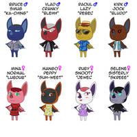 Animal Crossing Bat Villagers