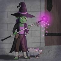 Aledea the Goblin Witch by stoneman123