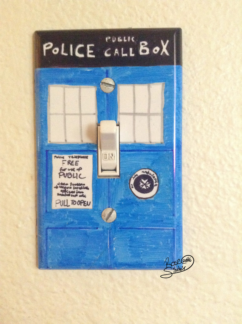 Tardis lightswitch cover by rose sinclair on deviantart for Tardis light switch cover