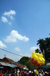 spongebobs goes to sky.