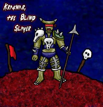 Kragnar, the Blind Slayer by screaminblue