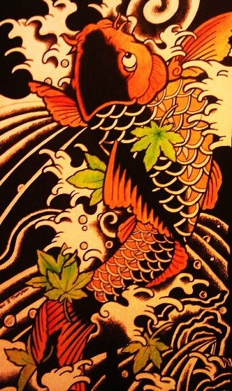Japanese koi fish by battenburgg on deviantart for Koi japanese art