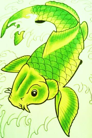 Koi fish by battenburgg on deviantart for Green koi fish