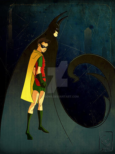Batman and Robin by G1toons
