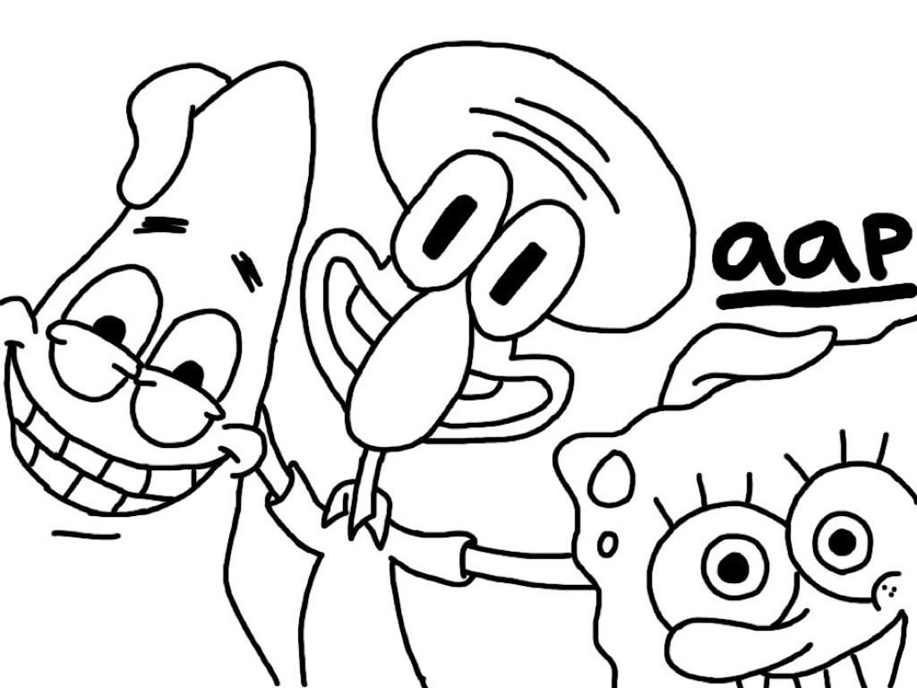 spongebob patrick squidward by haplila aap by haplila on deviantart