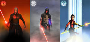 Star Wars KOTOR Character Card Set
