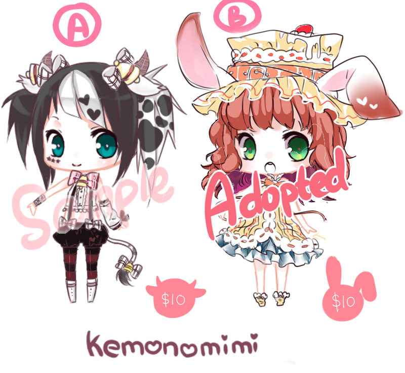 $10 adoptable kemonomimi paypal/points by Yamicchi