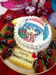 Hatsune Miku Xmas Cake!