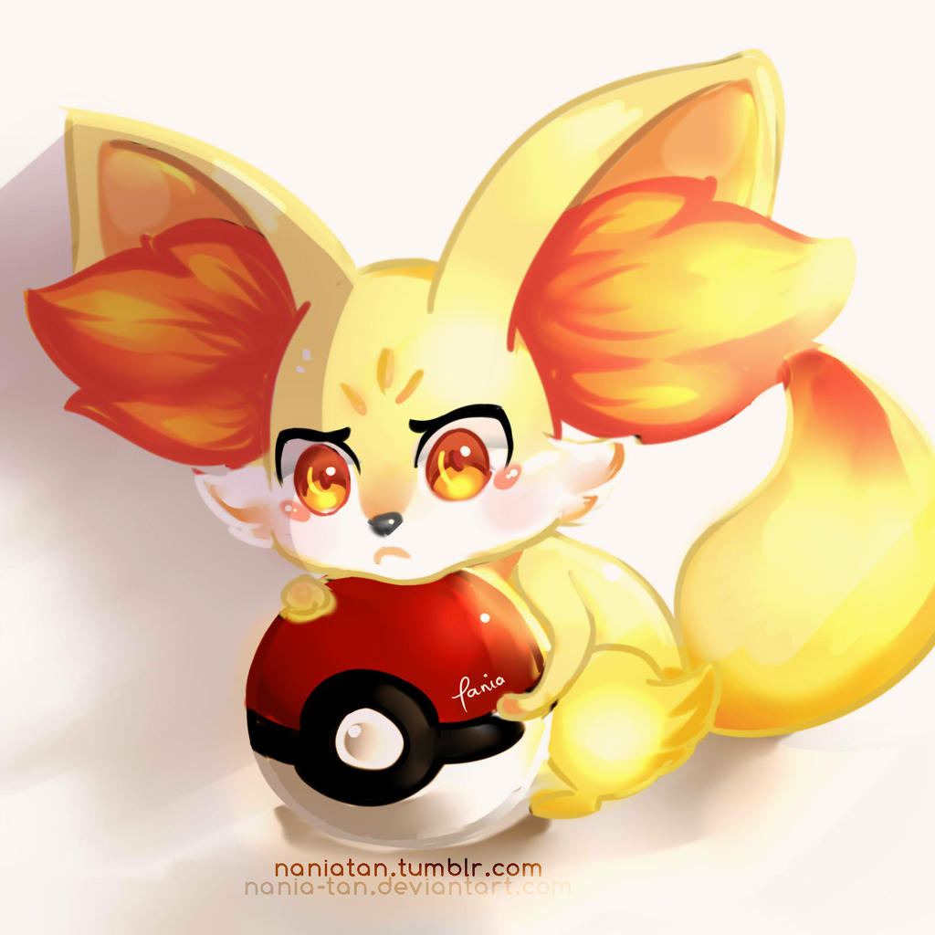 fennekin is angry by enmoire