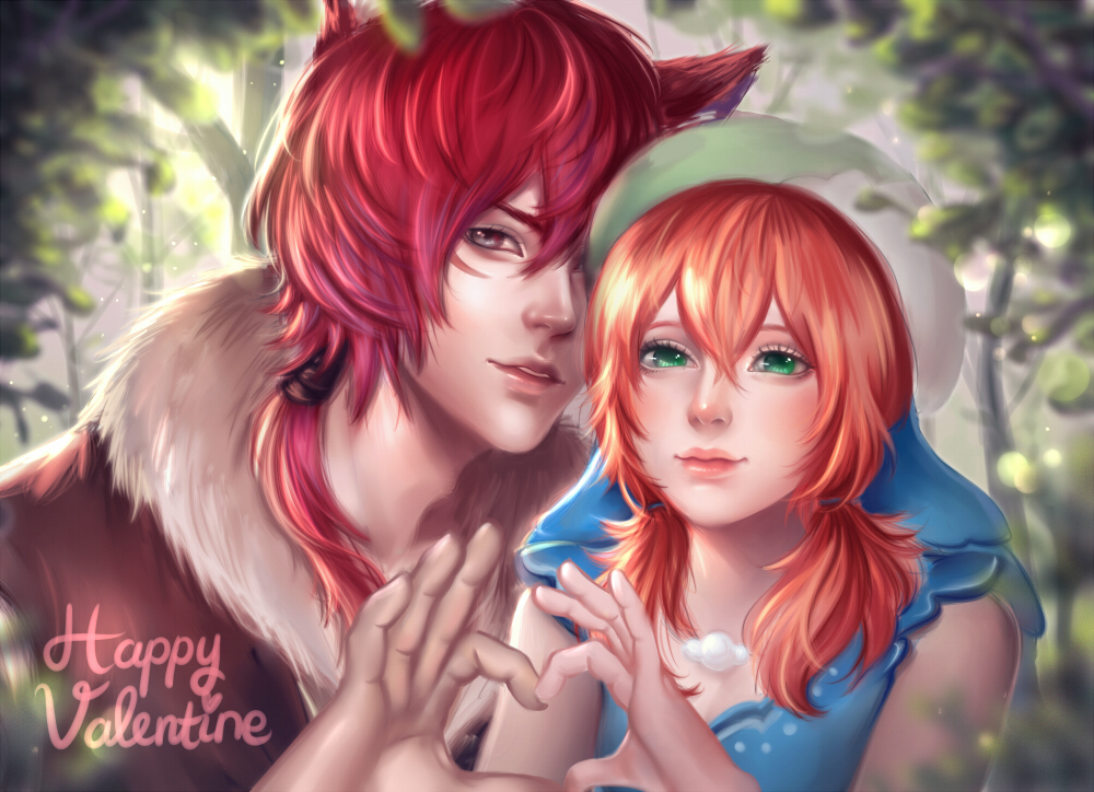 Reyfer and Skye's Valentine by enmoire