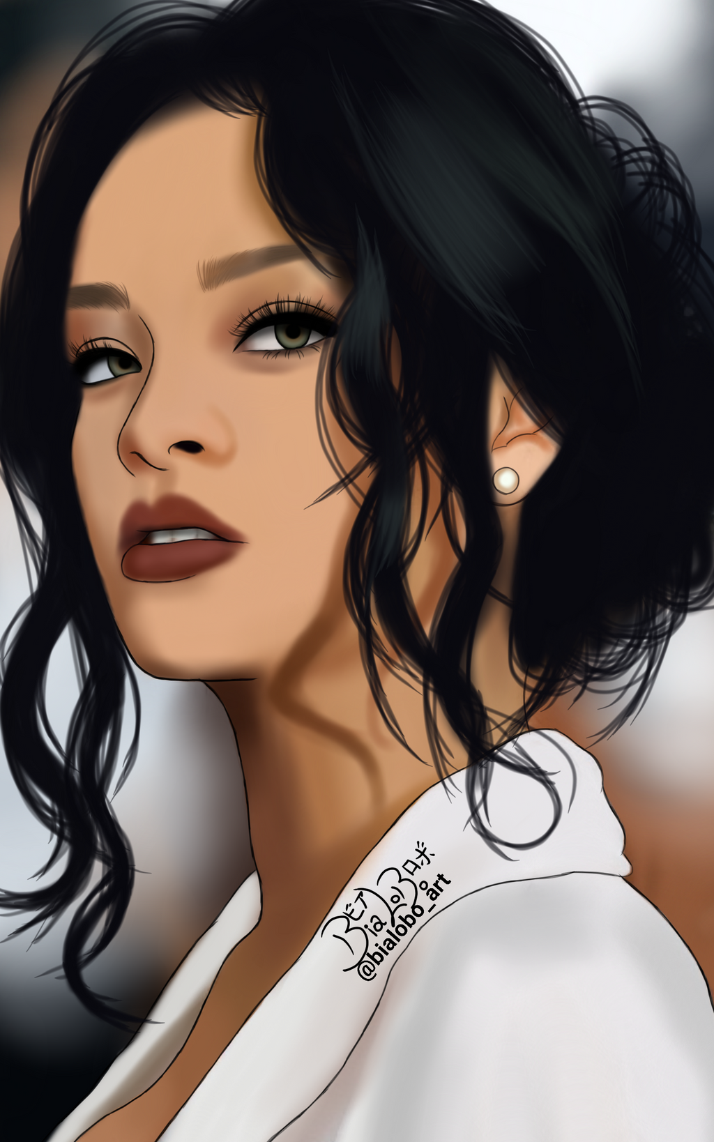 Rihanna Fanart byBiaLobo by BiaLobo on DeviantArt