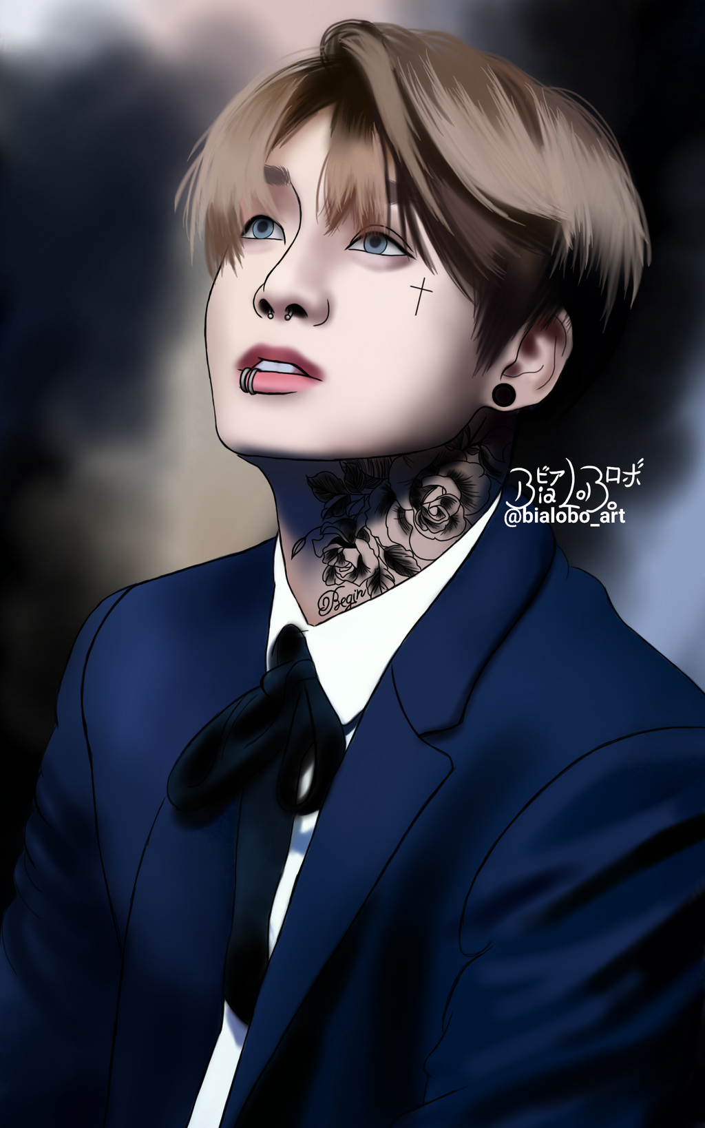 Jungkook Tattoo Shop: JungKook BTS (Tattoo) Fanart ByBiaLobo By BiaLobo On