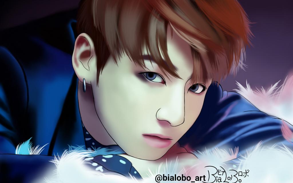 jungkook bts  wings  fanart bybialobo by bialobo db07cpo